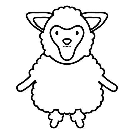 cute sheep childish character Stock Vector - 132767757