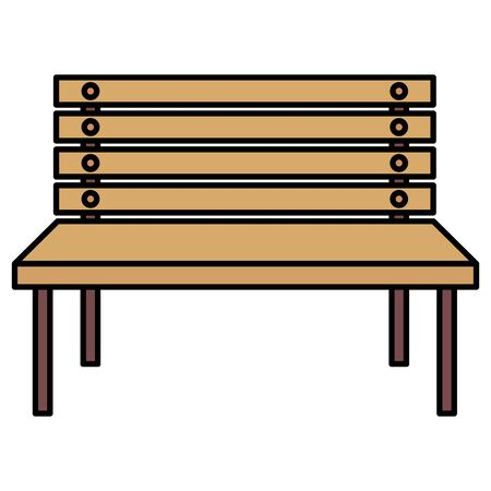 park wooden chair isolated icon