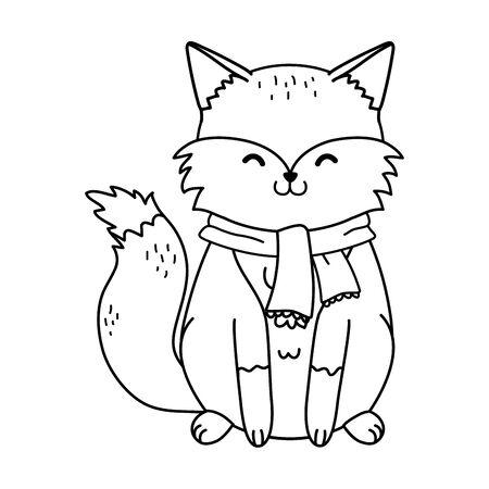 cute fox woodland character Foto de archivo - 132737154