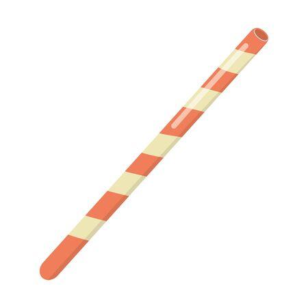 Isolated and striped straw design Ilustração