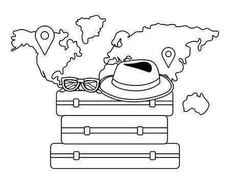 Suitcase and travel design Ilustracja