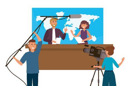 Broadcasting reportage design