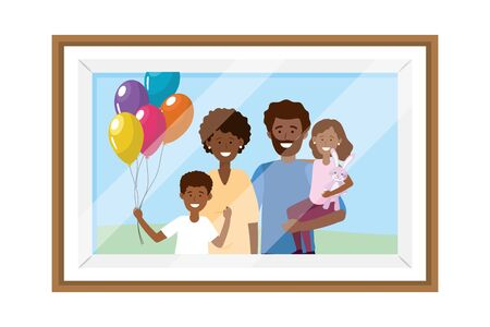couple with children photo frame