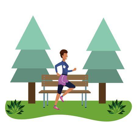 fitness sport train cartoon Ilustrace