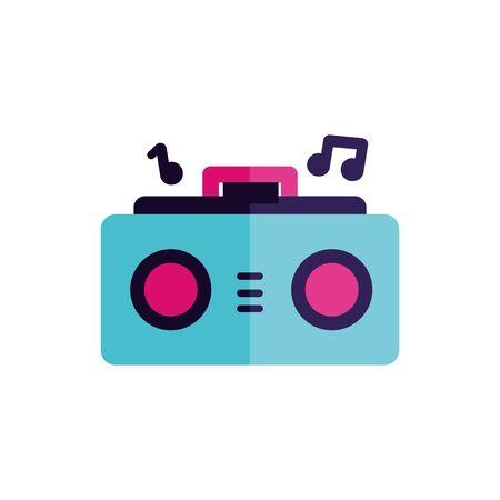 Music speaker icon design, Sound melody pentagram art and composition theme Vector illustration Archivio Fotografico - 132911333