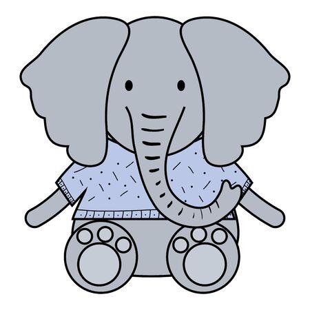 cute elephant childish character Foto de archivo - 133269042