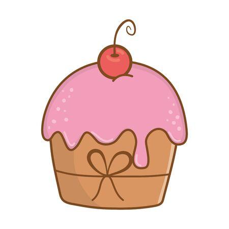birthday cupcake party element cartoon Archivio Fotografico - 133269070