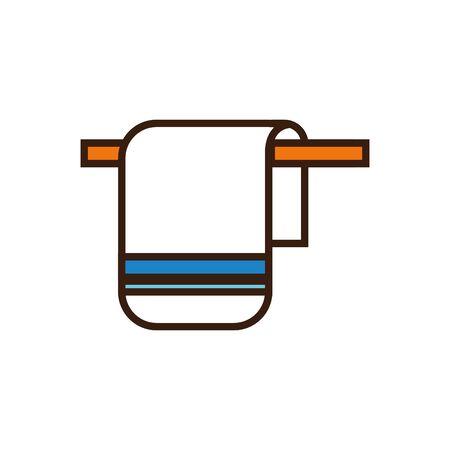 Isolated cotton towel line and fill vector design Ilustración de vector