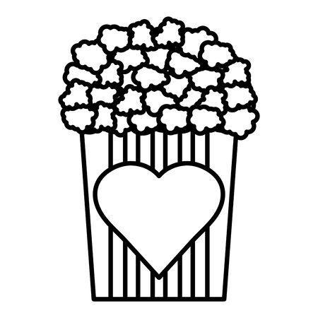 leckeres Popcorn-Symbol