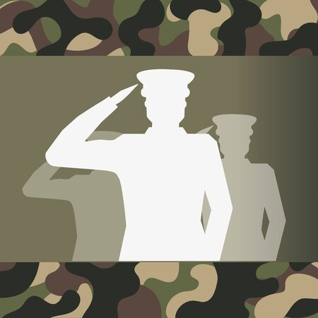 military officer silhouette and camouflage Standard-Bild - 133362179