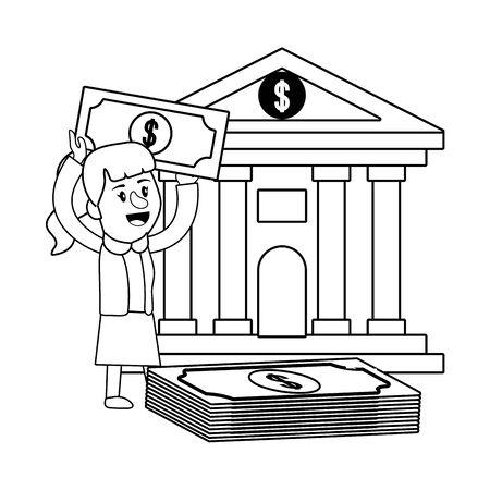Businesswoman banking financial planning black and white Standard-Bild - 134092780