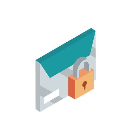 envelope security correspondence postal mail isometric