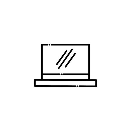 Isolated laptop vector design Ilustrace