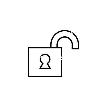 Padlock design, security lock access safe secret protection and steel theme Vector illustration Çizim
