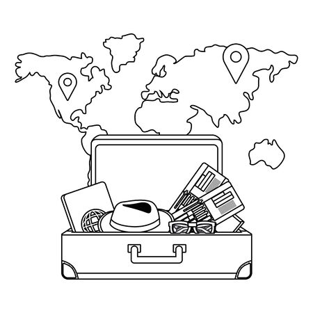 Suitcase design, Travel baggage luggage bag tourism vacation and trip theme Vector illustration Ilustracja