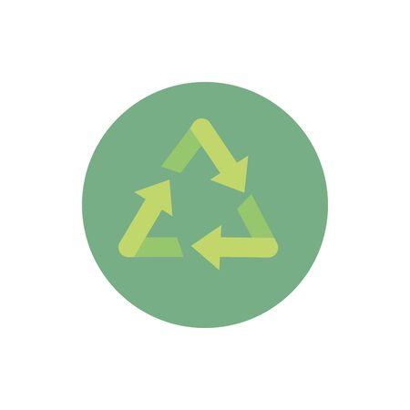 recycle green energy block icon