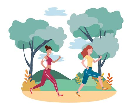 women running with sportwear
