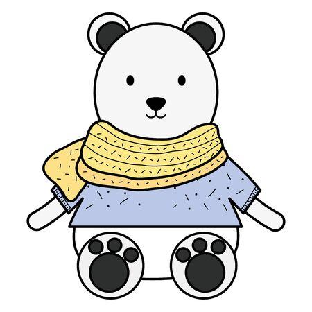 cute polar bear childish character