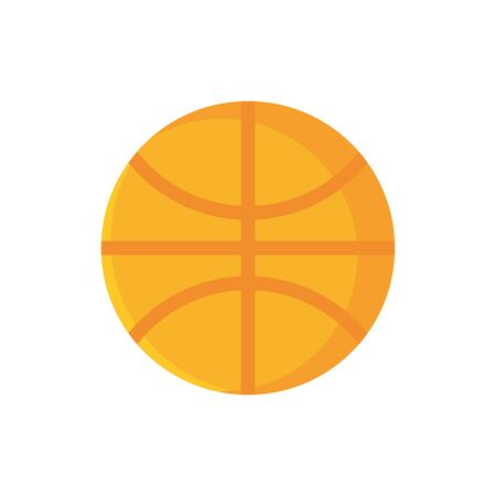 basketball ball sport school and education icon vector illustration