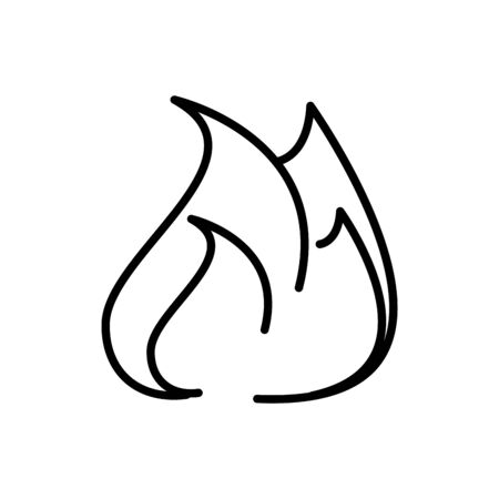 fire flame bonfire tourism travel thick line vector illustration Reklamní fotografie - 133002392