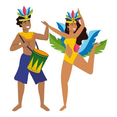 couple celebrating brazil canival