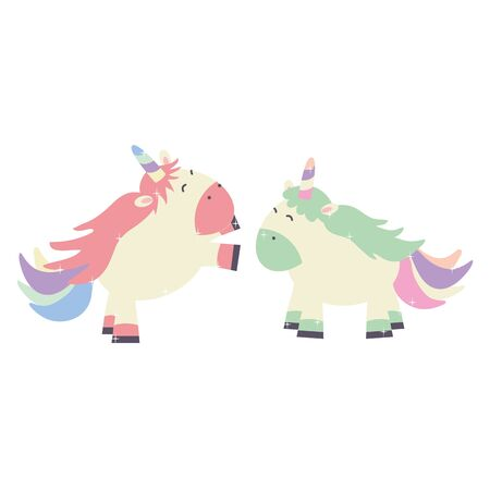 cute adorable unicorns fairy characters