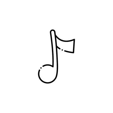 Isolated music note silhouette design Archivio Fotografico - 133014390
