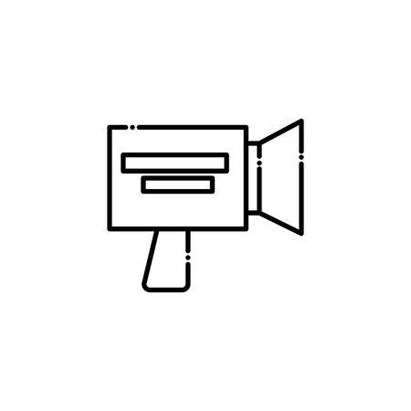 Videocamera design, Media film technology equipment movie digital camcorder and cinema theme Vector illustration