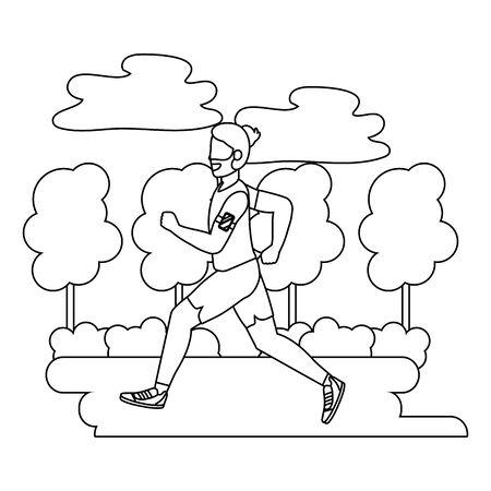 fitness sport train cartoon 일러스트