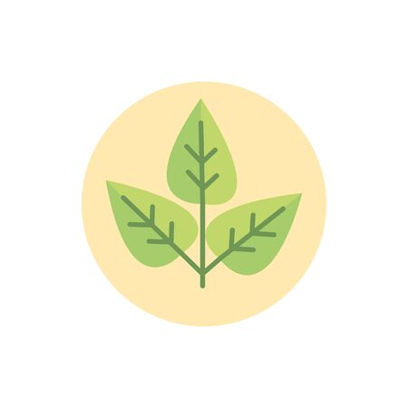 plant environment eco green energy block icon