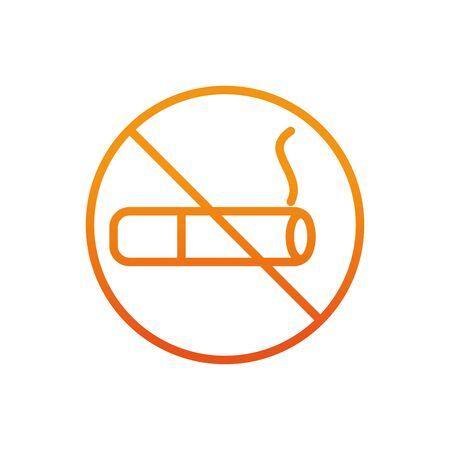 no smoking sign gradient line