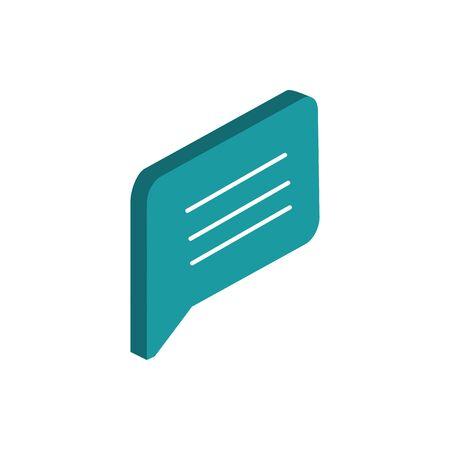 speech bubble message correspondence postal mail isometric