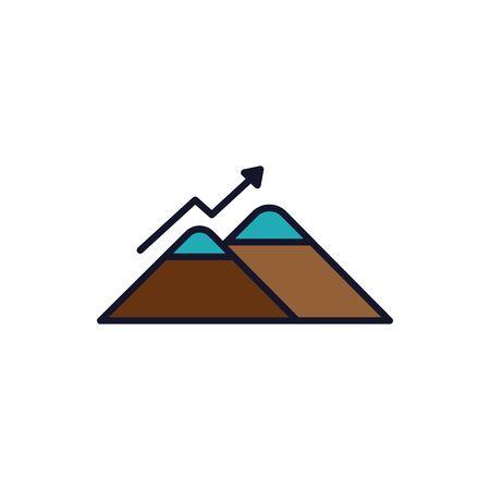 Isolated mountain icon fill vector design