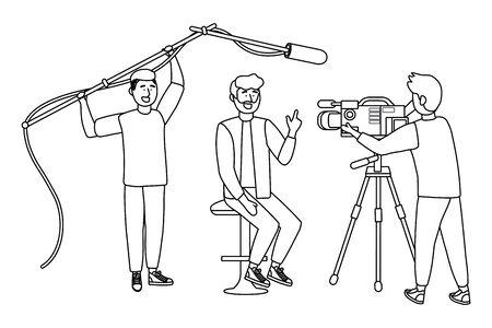 Broadcasting reportage design, News media communication journalism information and digital theme Vector illustration 版權商用圖片 - 133060723