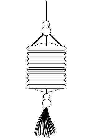 China lantern design, Culture asia traditional art famous oriental and landmark tratheme Vector illustration