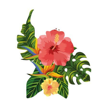 nature flowers cartoon vector illustration graphic design Stock Illustratie