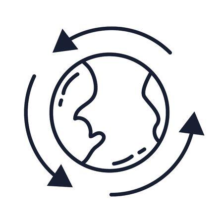 World sphere design, Planet continent earth world globe ocean and universe theme Vector illustration Иллюстрация