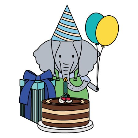 cute elephant in birthday party