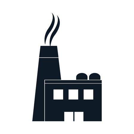 pictogram industry factory production plant vector illustration Standard-Bild - 133063990