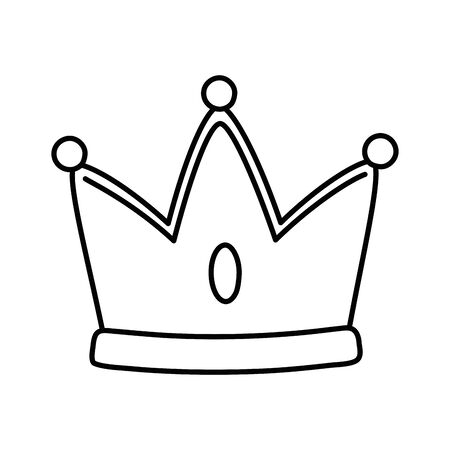 Isolated royal crown design vector illustration Illustration