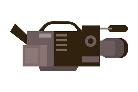 Isolated Videocamera design 向量圖像