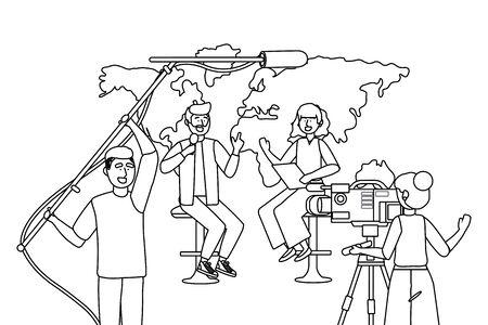 Broadcasting reportage design 版權商用圖片 - 133109594