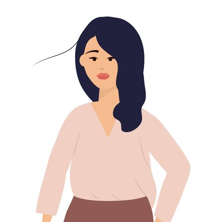 Isolated woman design vector illustrator