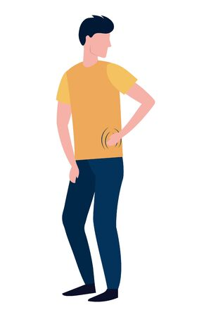 man body cartoon Ilustracja