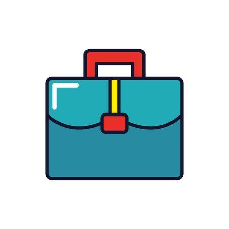 Diseño de maleta profesional, trabajo, ocupación, empleado corporativo, y servicio, tema, ilustración vectorial Ilustración de vector