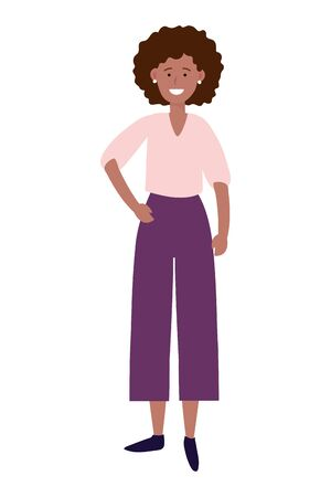 woman avatar cartoon character Ilustracja