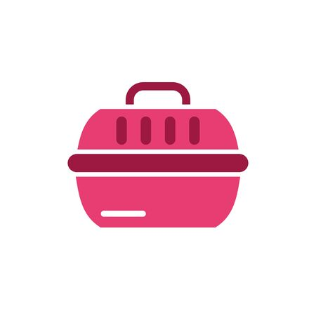 Pet basket icon design, Veterinary mascot domestic animal friendship care and lifestyle theme Vector illustration  イラスト・ベクター素材