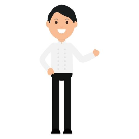 young waiter avatar character