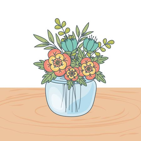 floral nature flowers cartoon