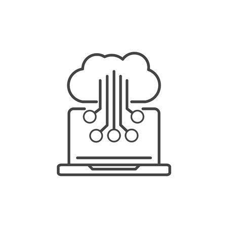 laptop electronic circuit technology icon line design Reklamní fotografie